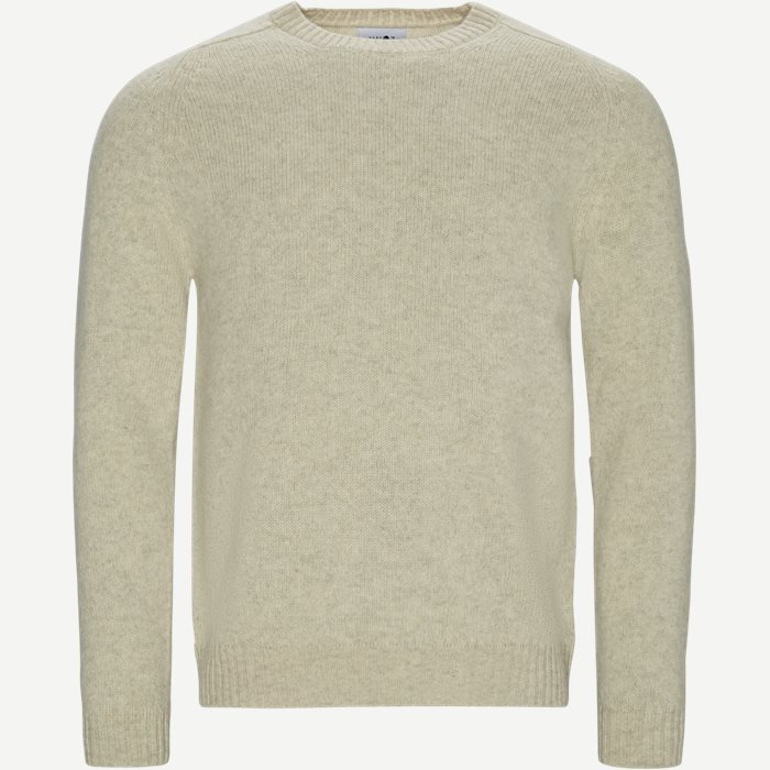 Nathan Sweater - Strik - Regular - Hvid